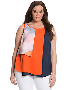 6th & Lane colorblock panel tank