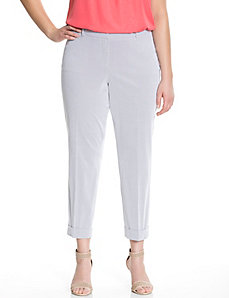 Lena textured stripe ankle pant