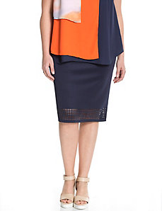 6th & Lane laser cut pencil skirt