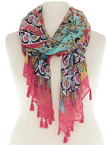 Paisley scarf with tassels