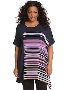 Stripe inset tunic