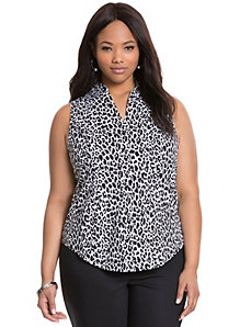Animal print sleeveless Perfect Shirt