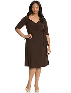 Sweetheart wrap dress by Kiyonna