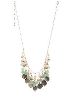 Stone bauble necklace