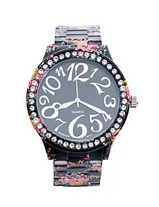 Floral fashion watch
