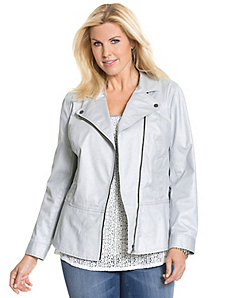 Coated moto jacket by DKNY JEANS