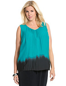 Vertical pleated blouse by DKNYC