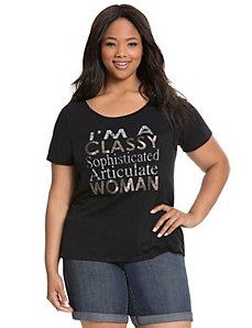 Classy Woman embellished tee