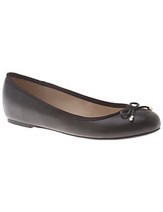 Hidden wedge ballet flat with bow