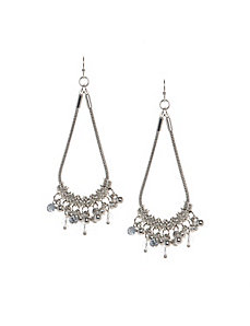 Chain drop teardrop earrings
