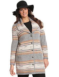 Striped sweater coat by Pendleton