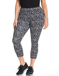 Signature Stretch printed capri legging