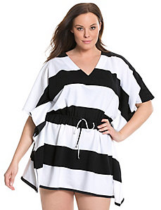 6th & Lane striped swim cover-up