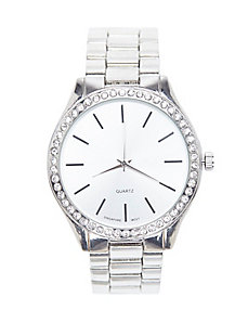 Cubic Zirconium fashion watch