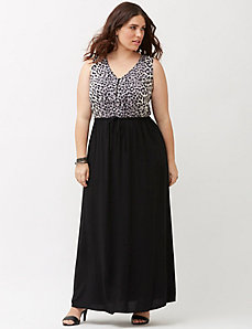 Leopard woven maxi dress