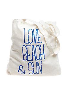 Canvas beach tote
