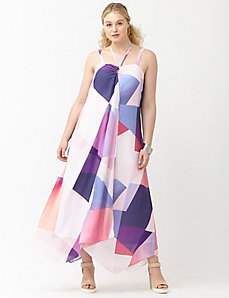 6th & Lane handkerchief hem maxi dress