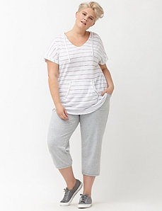 French terry pocket capri