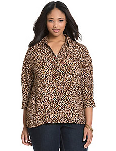 Animal print dolman blouse