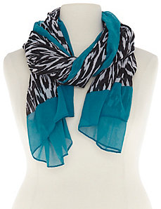 Border print scarf