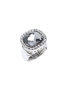 Square stone cocktail ring