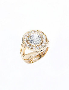 Cubic zirconium cocktail ring