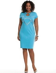 Studded sheath dress