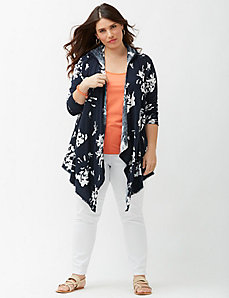Floral hooded cardigan