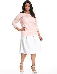 Textured circle skirt by MODAMIX