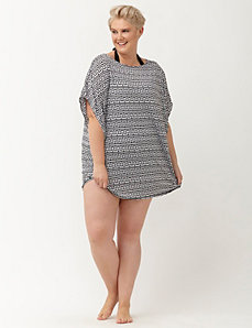 Aztec print dolman swim cover up
