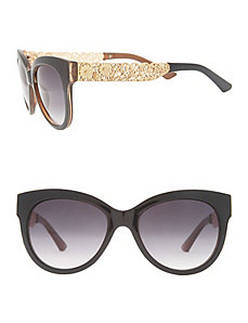Cat-eye sunglasses with filigree arms