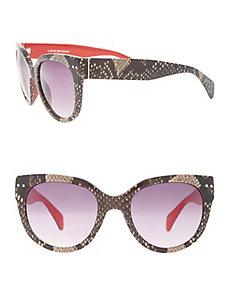 Snake sunglasses with color pop trim