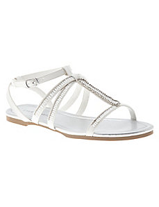 Beaded strappy sandal