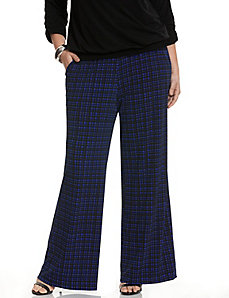 Simply Chic grid print wide leg pant