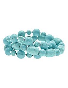 Turquoise stretch bracelet trio