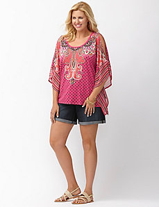 Cold shoulder drama top