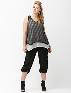 6th & Lane layered lace tank