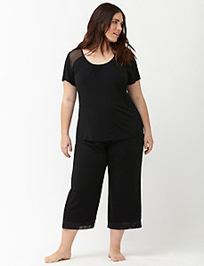 Cooling cropped sleep pant