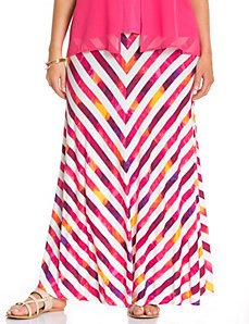 Painted stripe maxi skirt