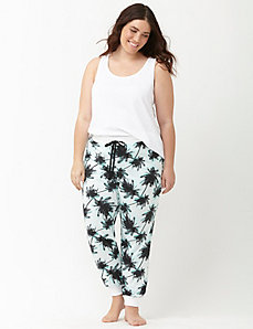 Palm print sleep jogger