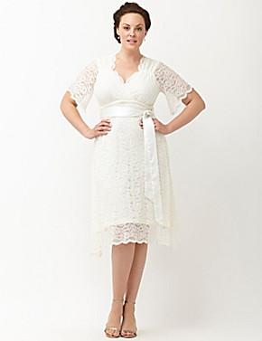 Lace Confection Wedding Dress By Kiyonna   Lane Bryant