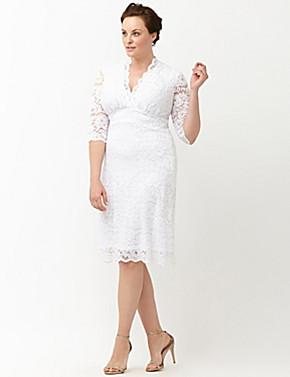 Luxe Lace Wedding Dress By Kiyonna   Lane Bryant