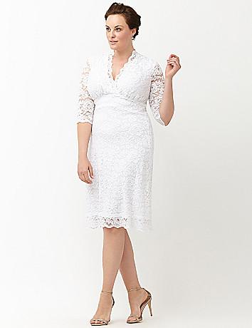 Luxe lace wedding dress by kiyonna lane bryant for Lane bryant wedding dress
