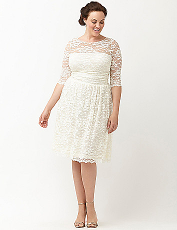 aurora lace wedding dress by kiyonna lane bryant