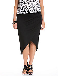 Ruched tulip skirt