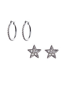 Star & hoop earring duo