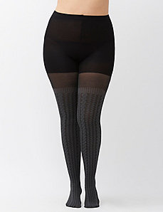 Cable knit sweater tights by SPANX&reg
