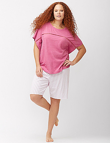 Circle cut sleep top