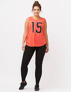Embellished number graphic tank
