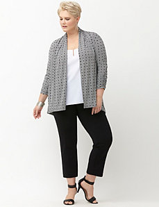 Simply Chic matte Jersey Aztec print jacket
